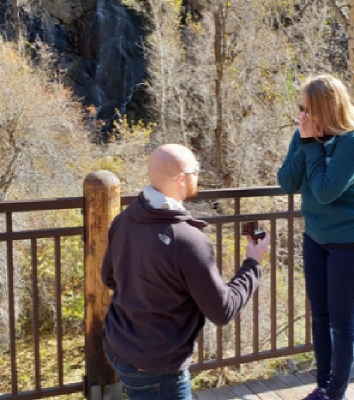 A proposal at Bridle Falls.